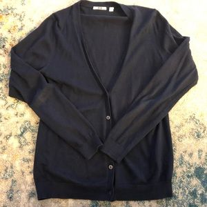 Uniqlo navy cardigan. Worn once.